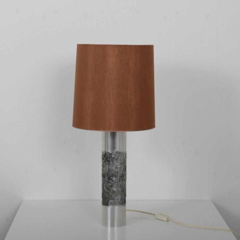 Aluminium table lamp by Willy Luyckx for Aluclair, Belgium 1960s