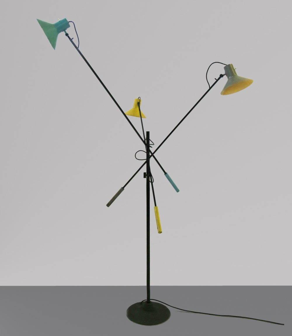 Floor Lamp Mod. 1052 by Gino Sarfatti for Arteluce (Original Label), 1951