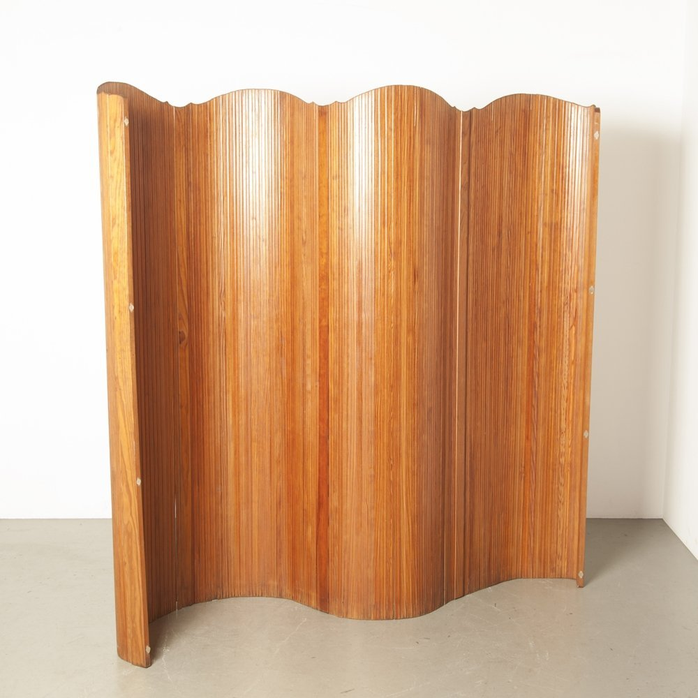 Jomain Baumann for Baumann & Melun Art Deco French Tambour Folding Screen / Room Divider