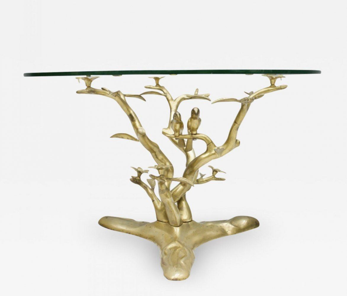 Brass Coffee Table by Willy Daro, 1970s