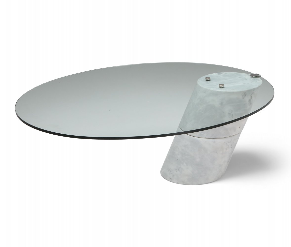 Postmodern Marble K1000 Coffee Table by Ronald Schmitt, 1980