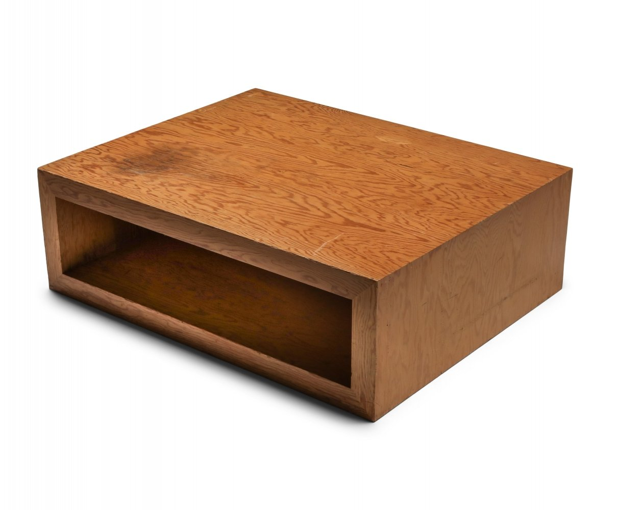 Pitch pine mid-century coffee table, 1960
