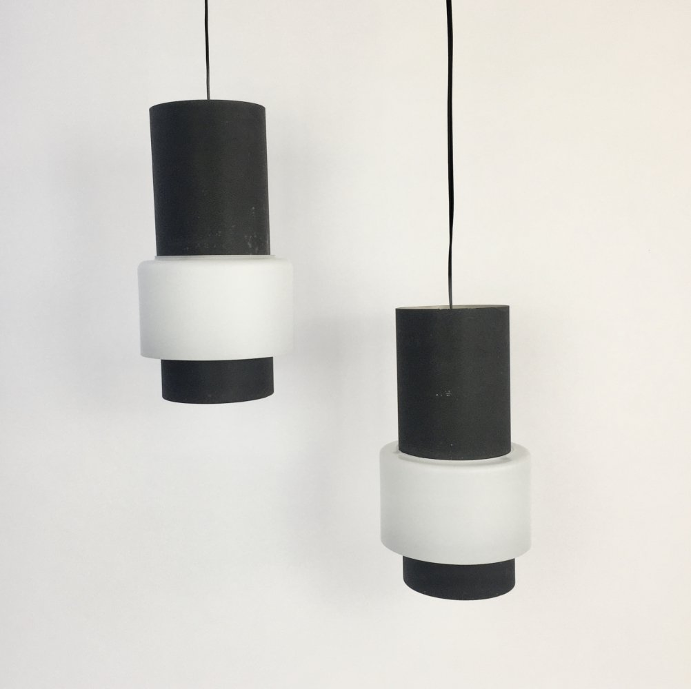 Pair of NT61 hanging lamps by Louis Kalff for Philips, 1960s