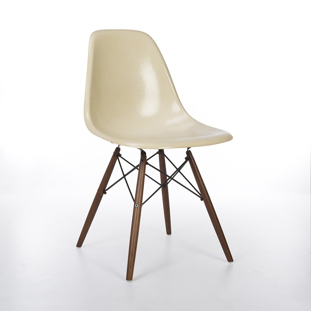 Parchment Herman Miller Original Eames DSW Dining Side Chair