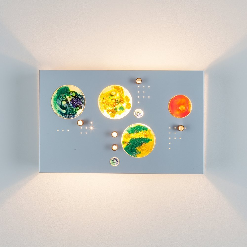 Collage C-1701 wall lamp by Raak, 1970s