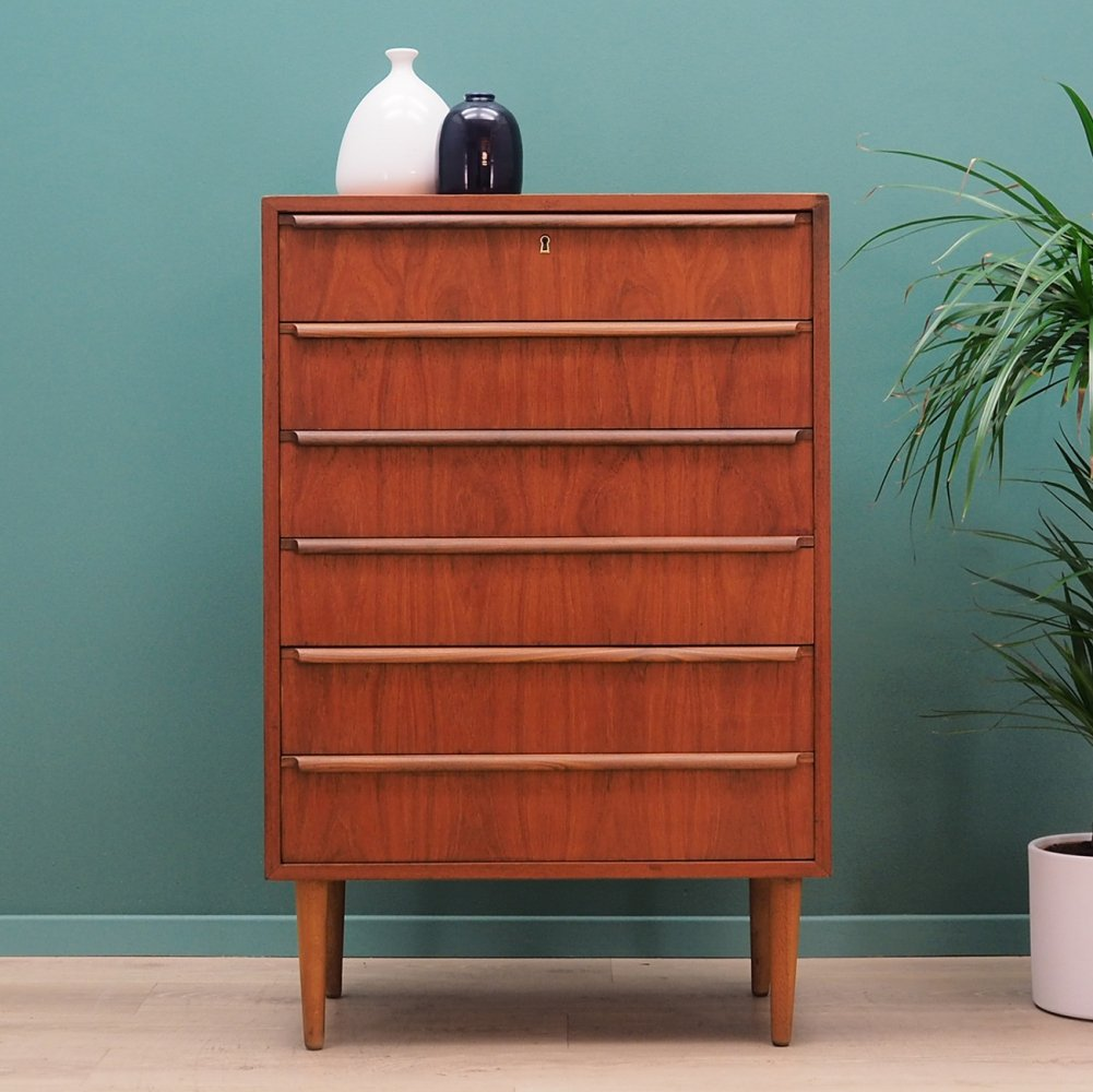 Vintage teak chest of drawers by A. Ahlström Osakeyhtiö Warkaus, 1970s
