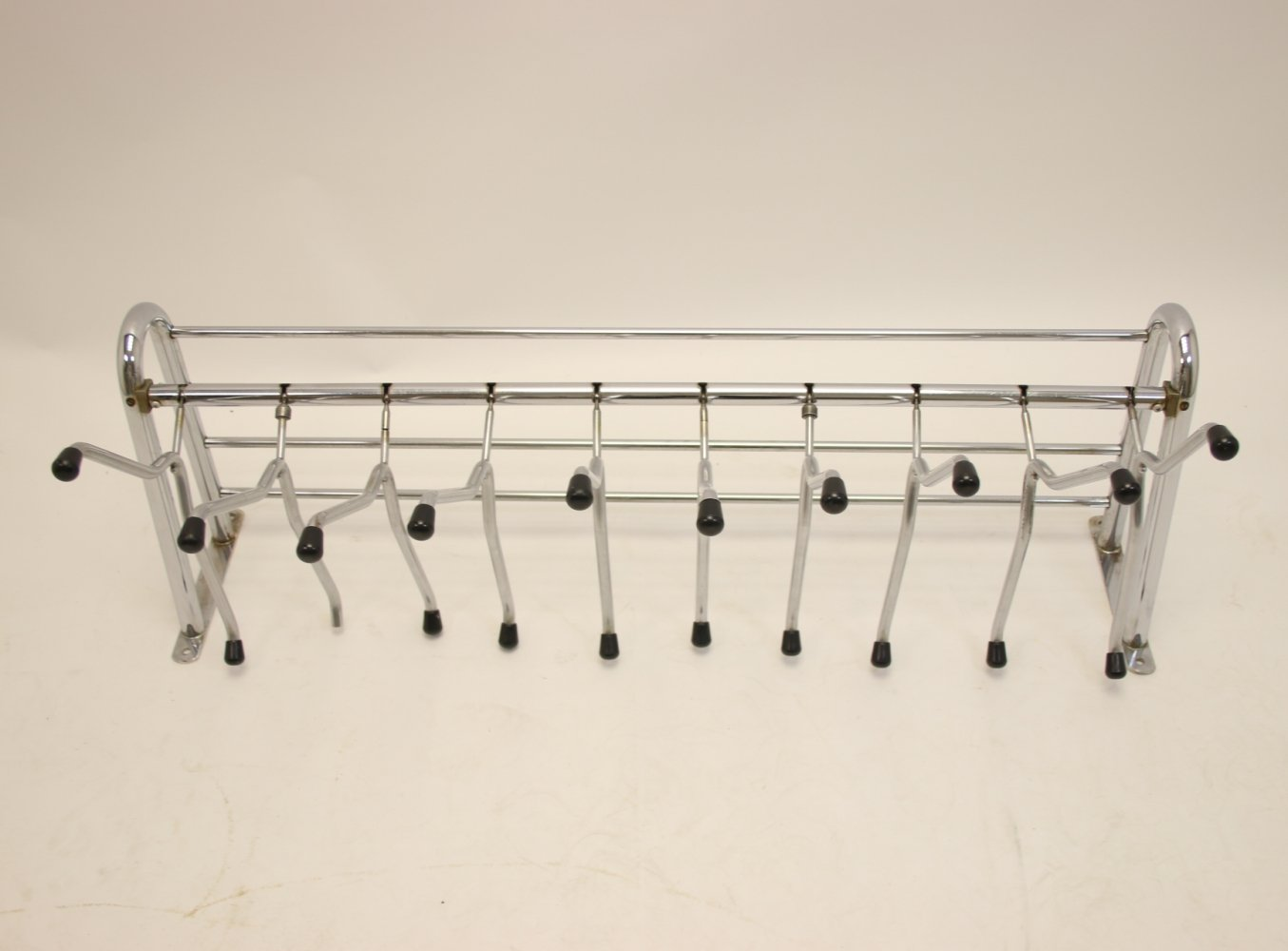 Large wall coat rack with separate hangers