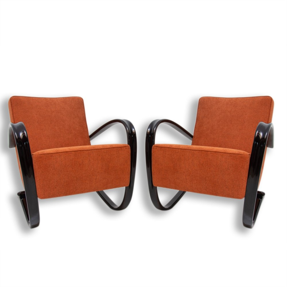 Pair of Lounge armchairs H-269 by Jindřich Halabala for UP Závody, 1940s
