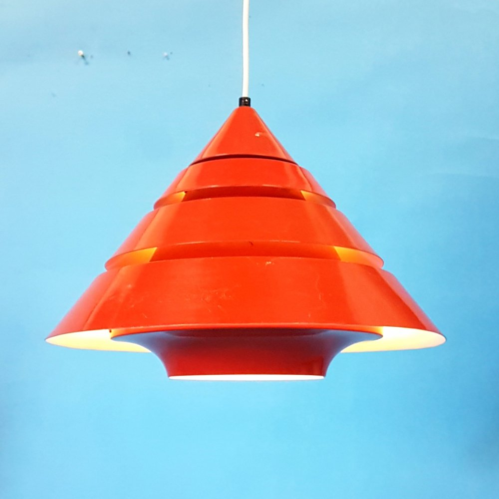 Red pendant lamp by Hans Agne Jakobsson, Sweden 1960s