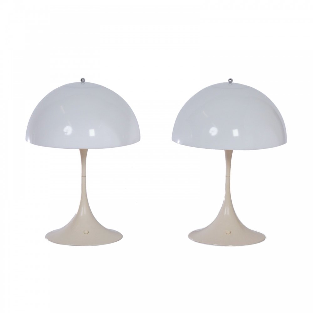 Pair of 1st edition Panthella Table Lamps by Verner Panton for Louis Poulsen, 1970s