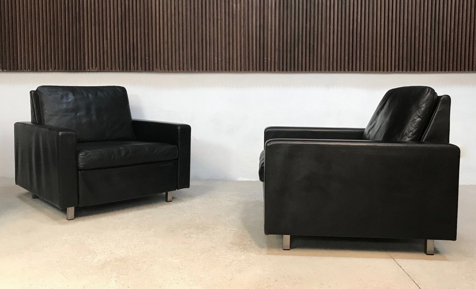 German Conseta Leather Lounge Chair by Friedrich W. Möller for COR, 1960s
