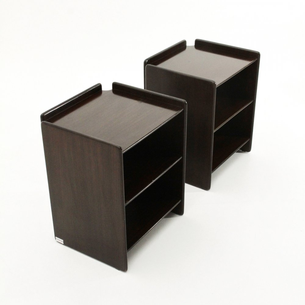 Pair of plywood Nightstands by Sergio Asti & Sergio Favre for Poltronova, 1960
