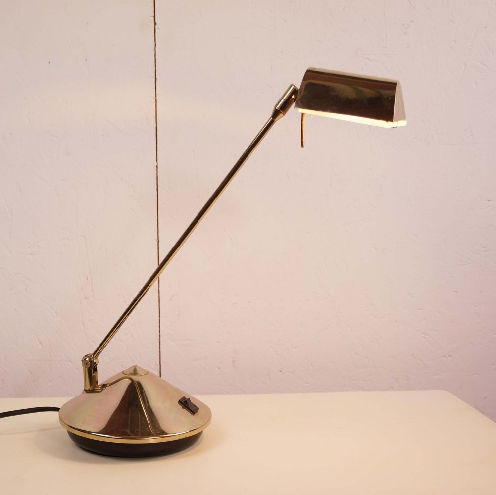 Fase Brass Plated Cone Lamp, 1970
