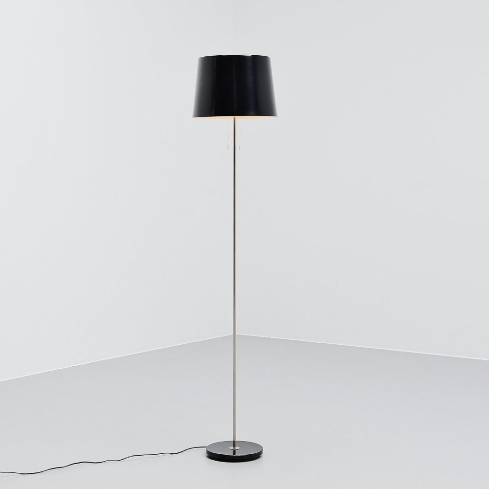 Black industrial Gispen floor lamp, 1960s