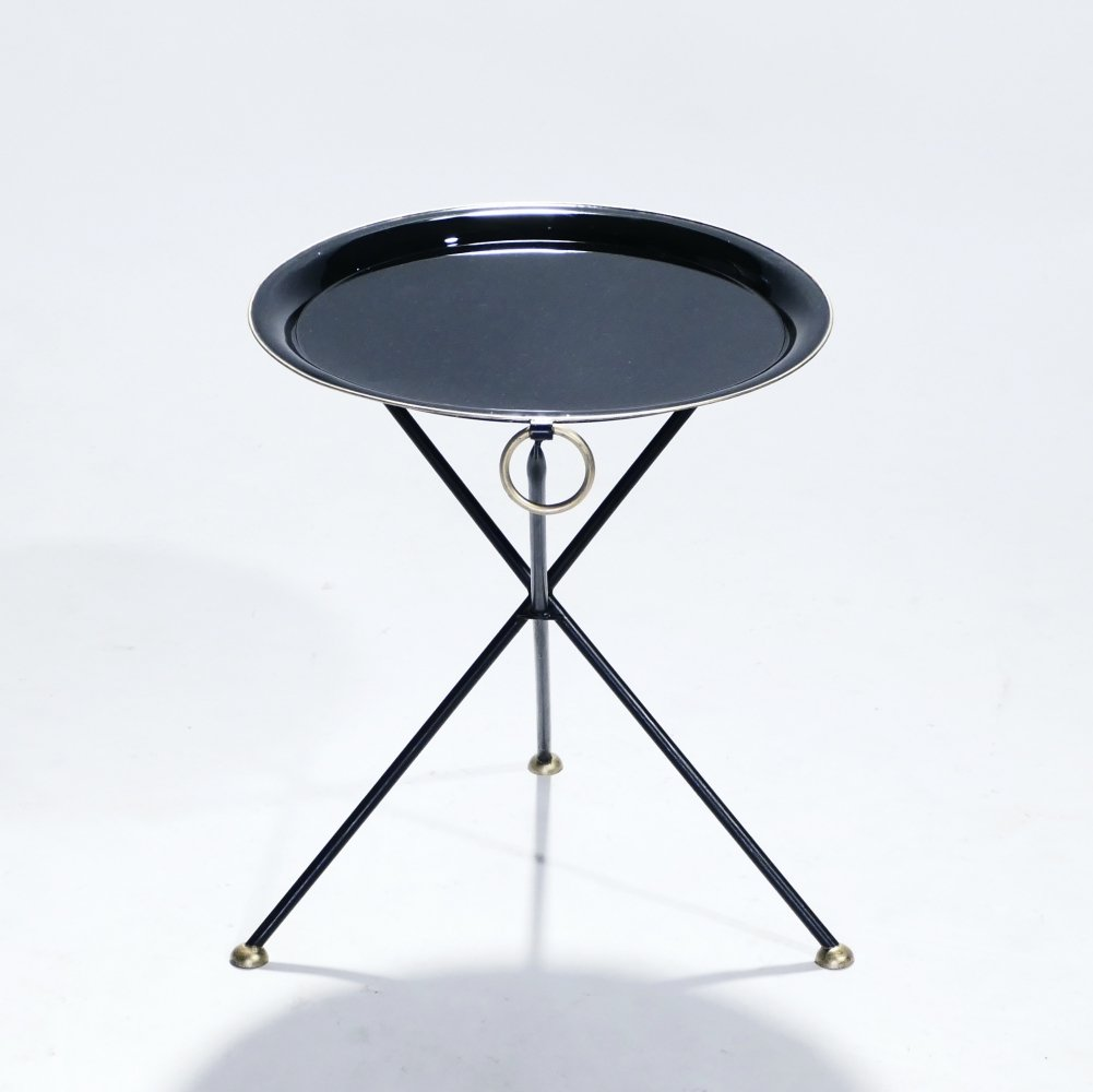 Signed Christian Dior folding side table, 1970