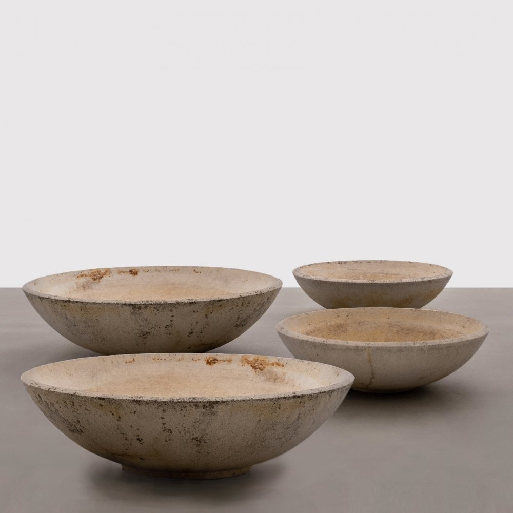 Mid Century Modern Concrete Planters in different shapes & sizes, 1960s