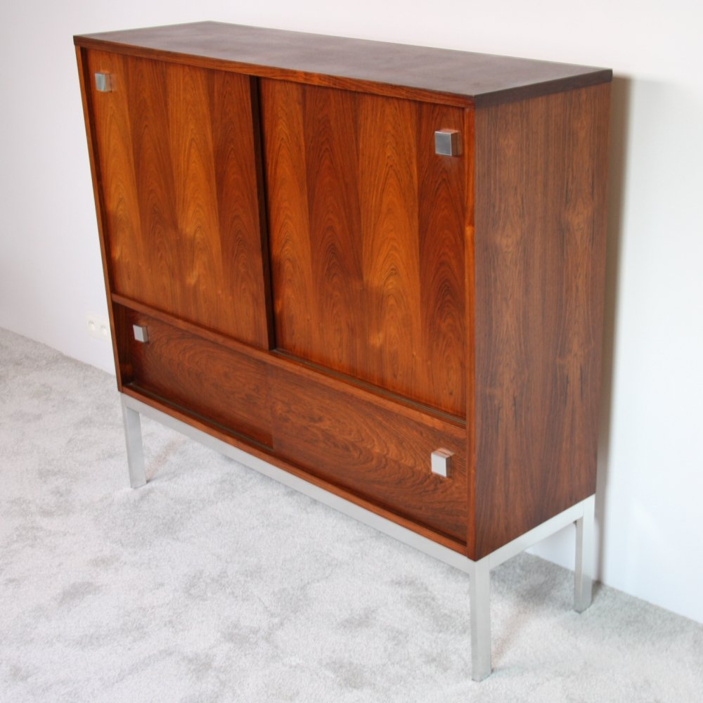 Highboard in rosewood with bar by Alfred Hendrickx for Belform, Belgium 1960