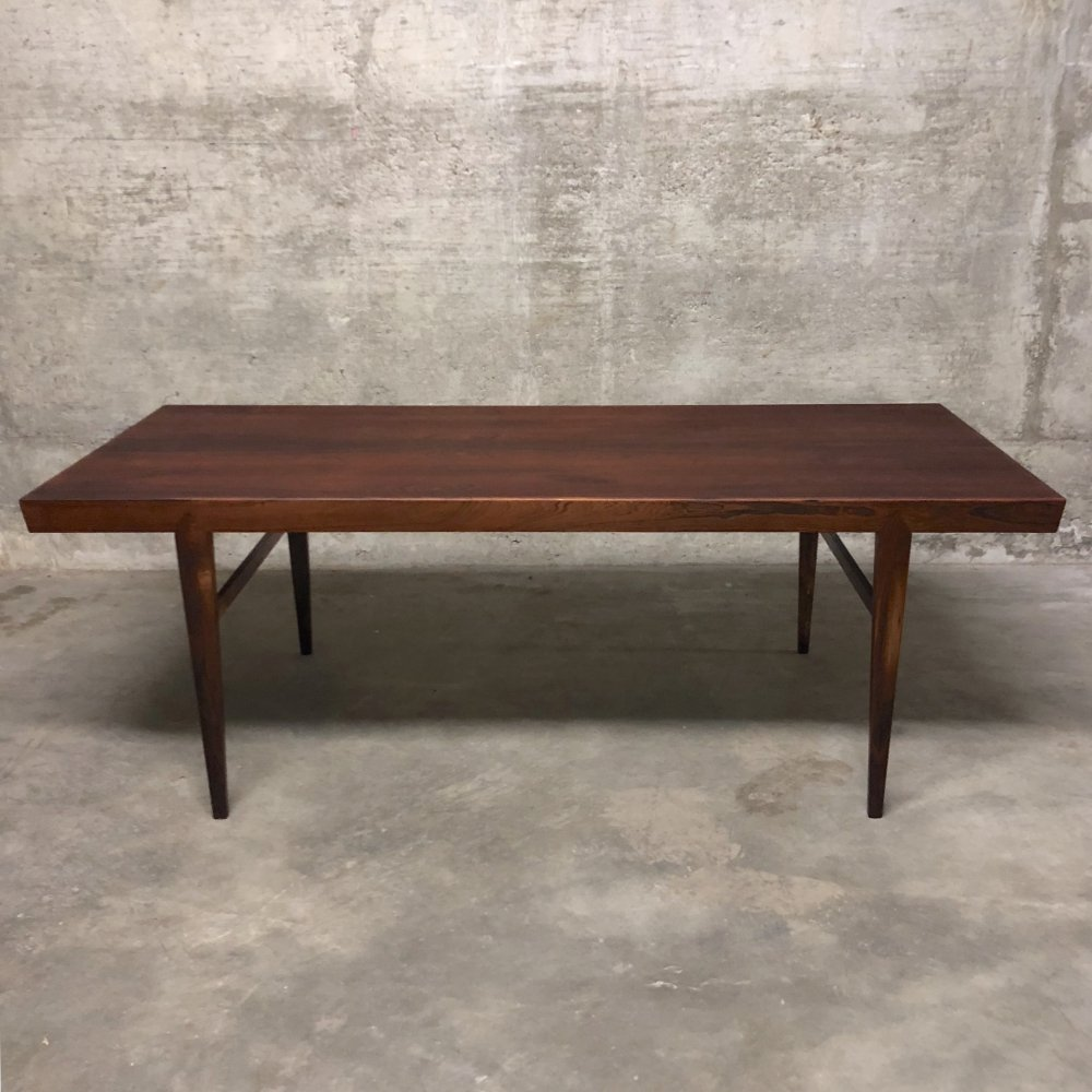 Severin Hansen Rosewood Coffee Table for Haslev, 1955