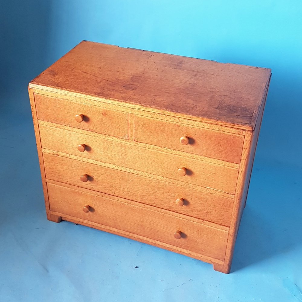 Mid century oak chest of drawers by AM Staverton, UK 1962