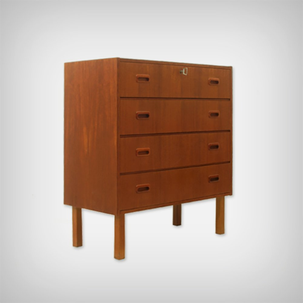 Danish Teak Chests of Drawers, 1960s