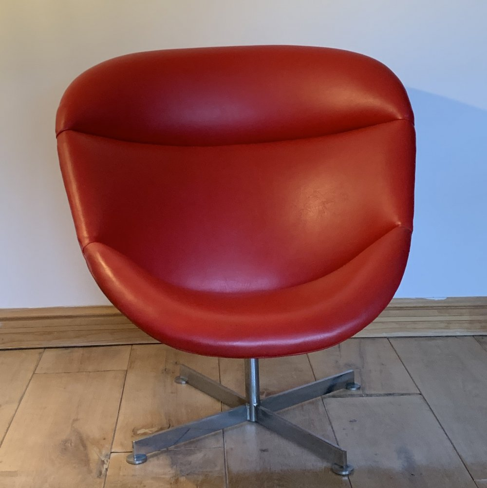 Vintage Egg Swivel Chair By Rudolf Wolf