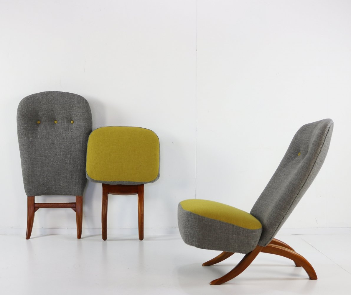 Pair of Congo lounge chairs by Theo Ruth for Artifort, 1960s