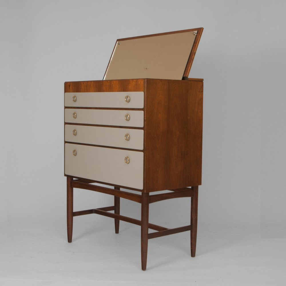 Chest of drawers with mirror enclosed, Sweden 1940s