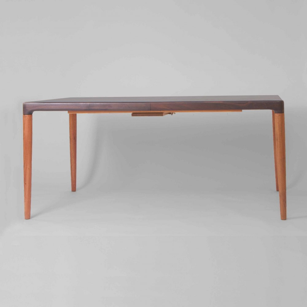 Dining table with 2 extension leaves, Denmark 1960s