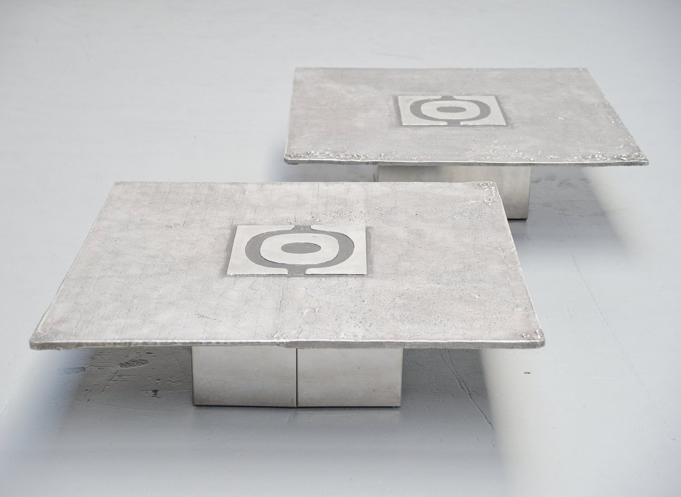 Pair of Willy Ceysens coffee tables, Belgium 1970