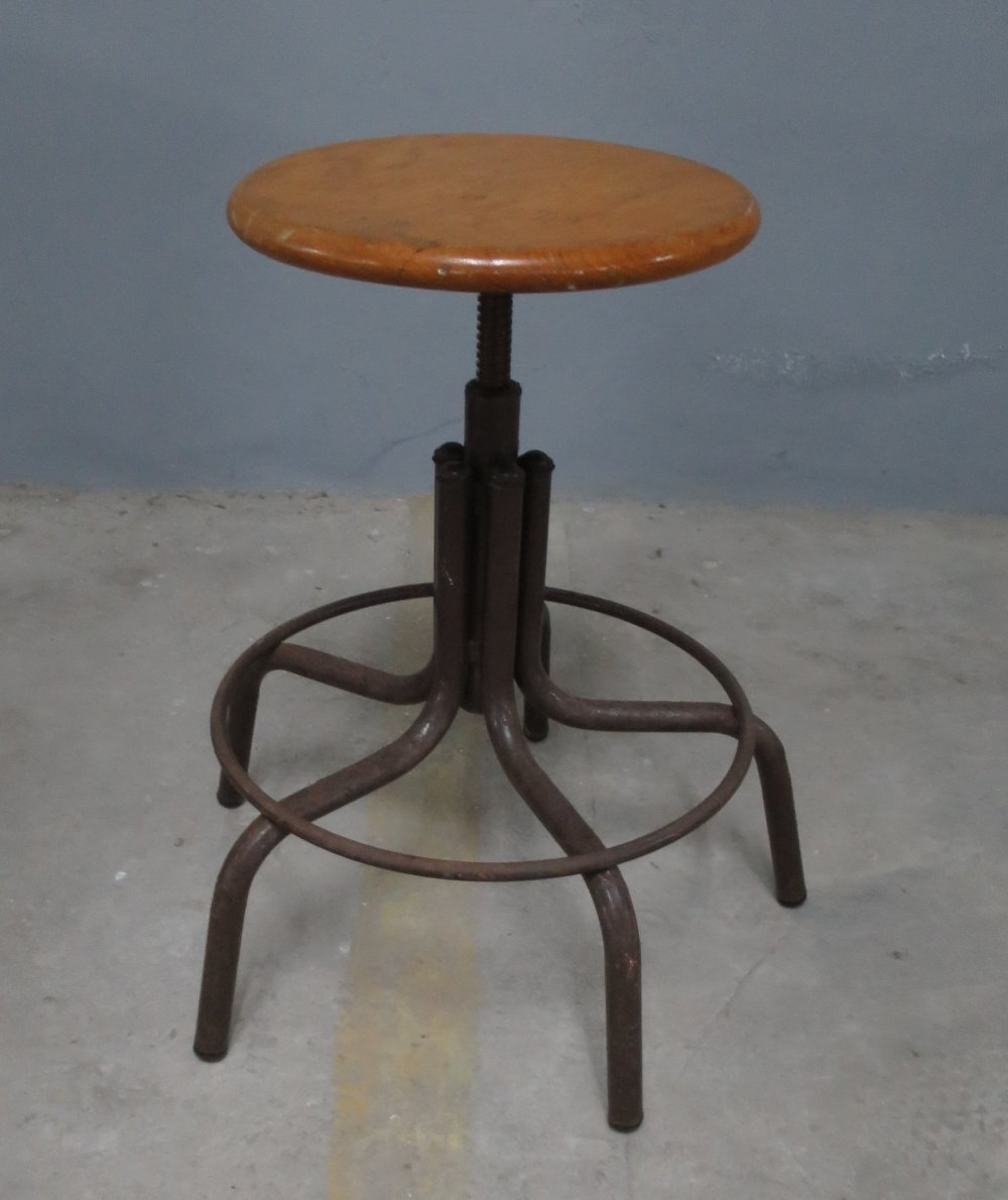 Industrial working stool, 1970s