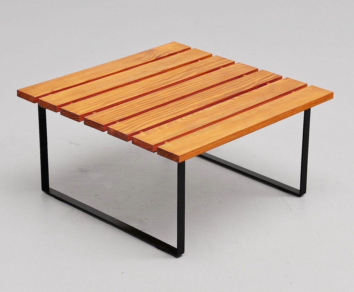 Slat table by Dutch architect, Holland 1950