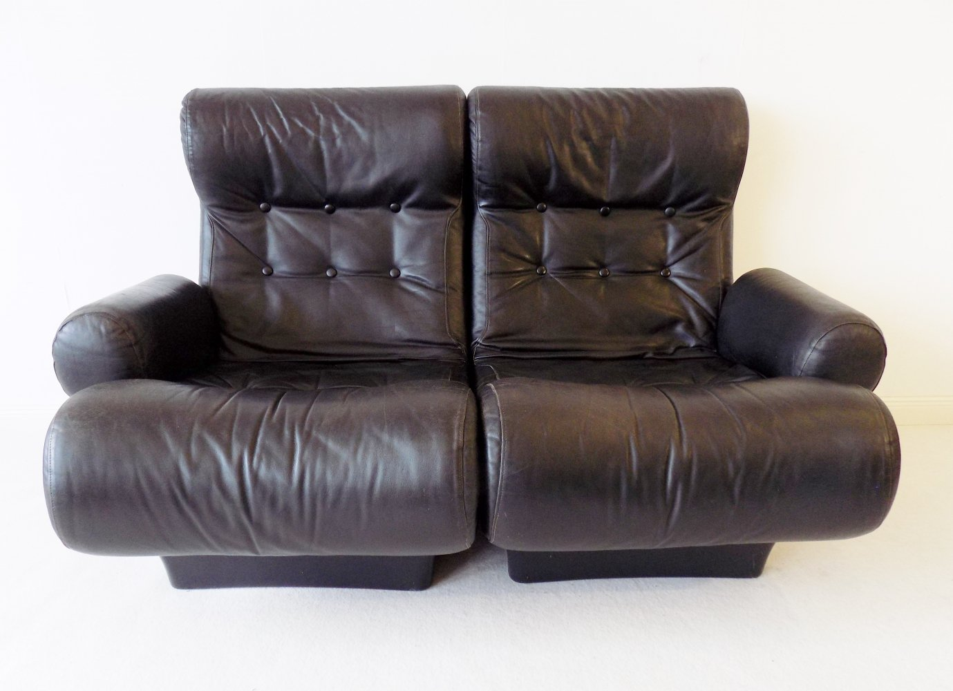 Otto Zapf Sofalette leather lounge chair modul system 2 seater