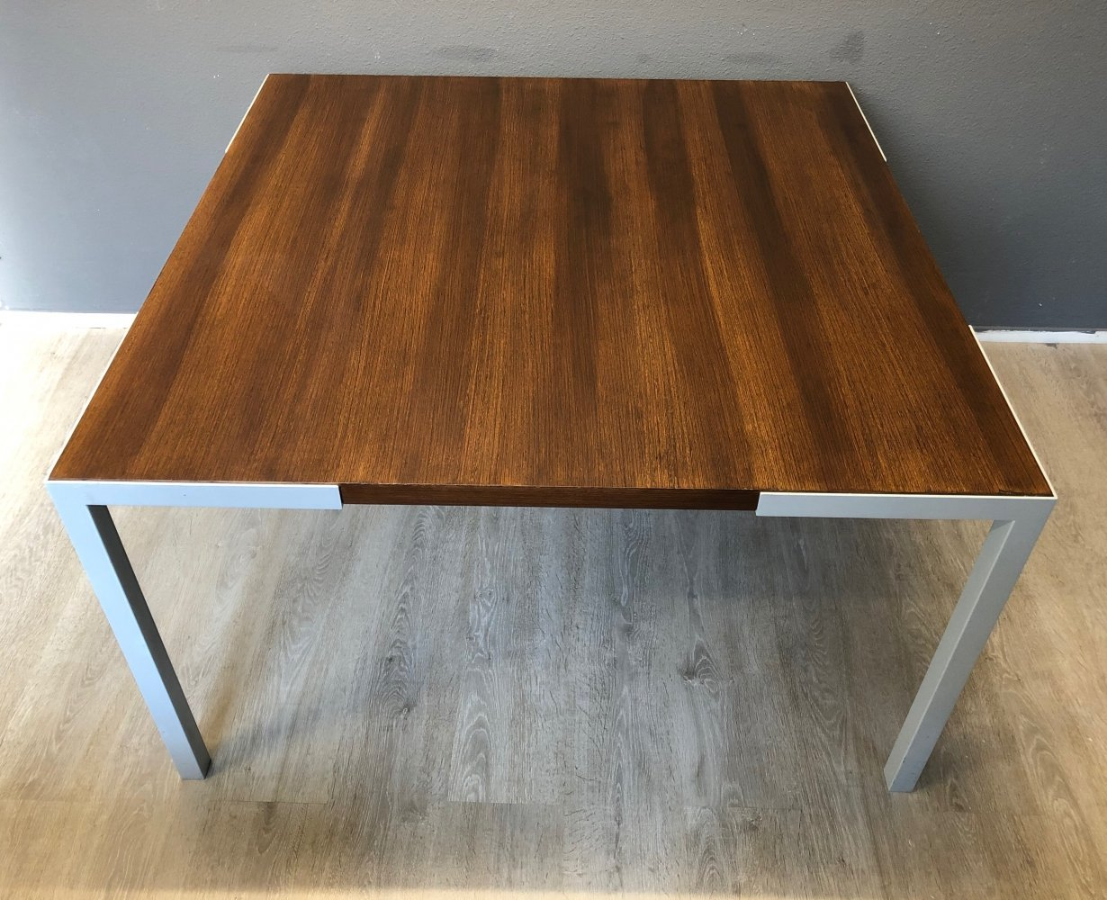 Wim den Boon dining table in Wenge wood & steel, 1960s