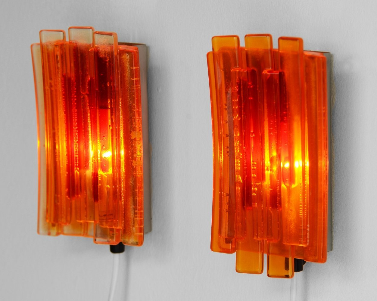 Pair of wall lights/sconces 1001 by Claus Bolby for Lyskaer Belysning