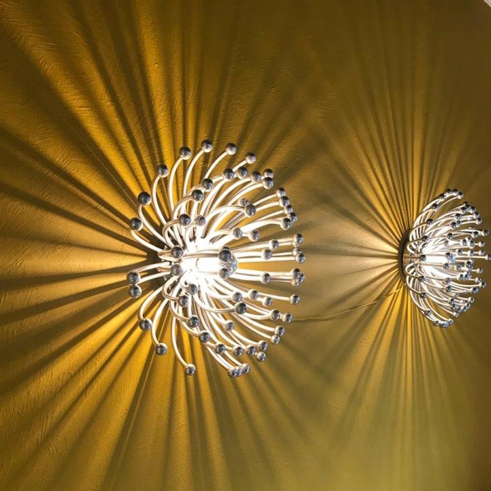 Iconic pair of large Pistillo lamps by Studio Tetrarch for Valenti Luce, 1970s