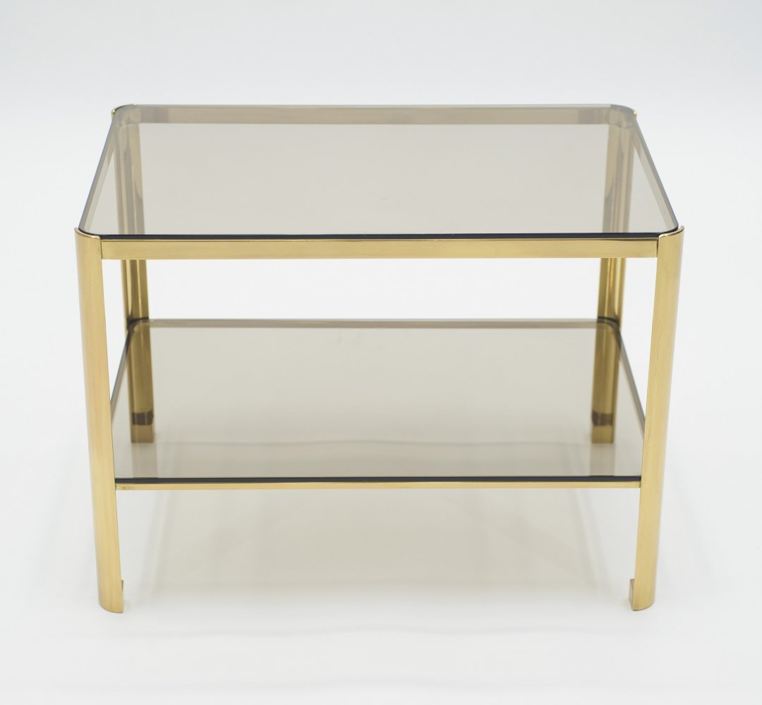 French Bronze occasional side table by Jacques Quinet for Broncz, 1960s