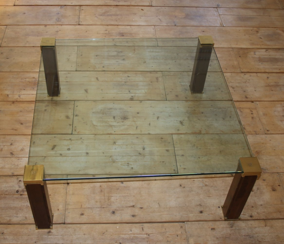 Peter Ghyczy Coffee Table with wooden legs, 1980s