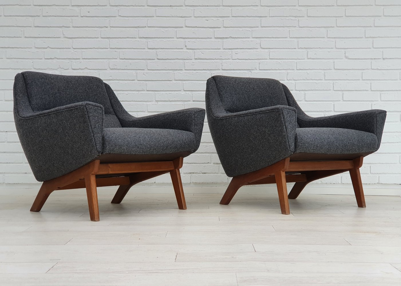 Pair of Original Danish armchairs, 1960s