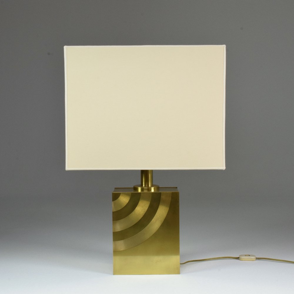 20th Century Vintage Italian Brass Table Lamp, 1970