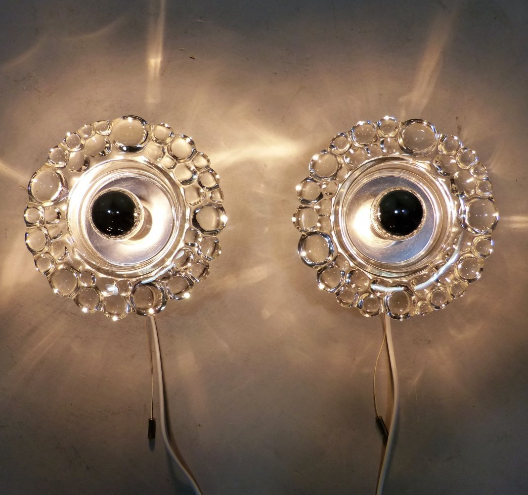 Pair of Wall Lamps by Hillebrand, 1960