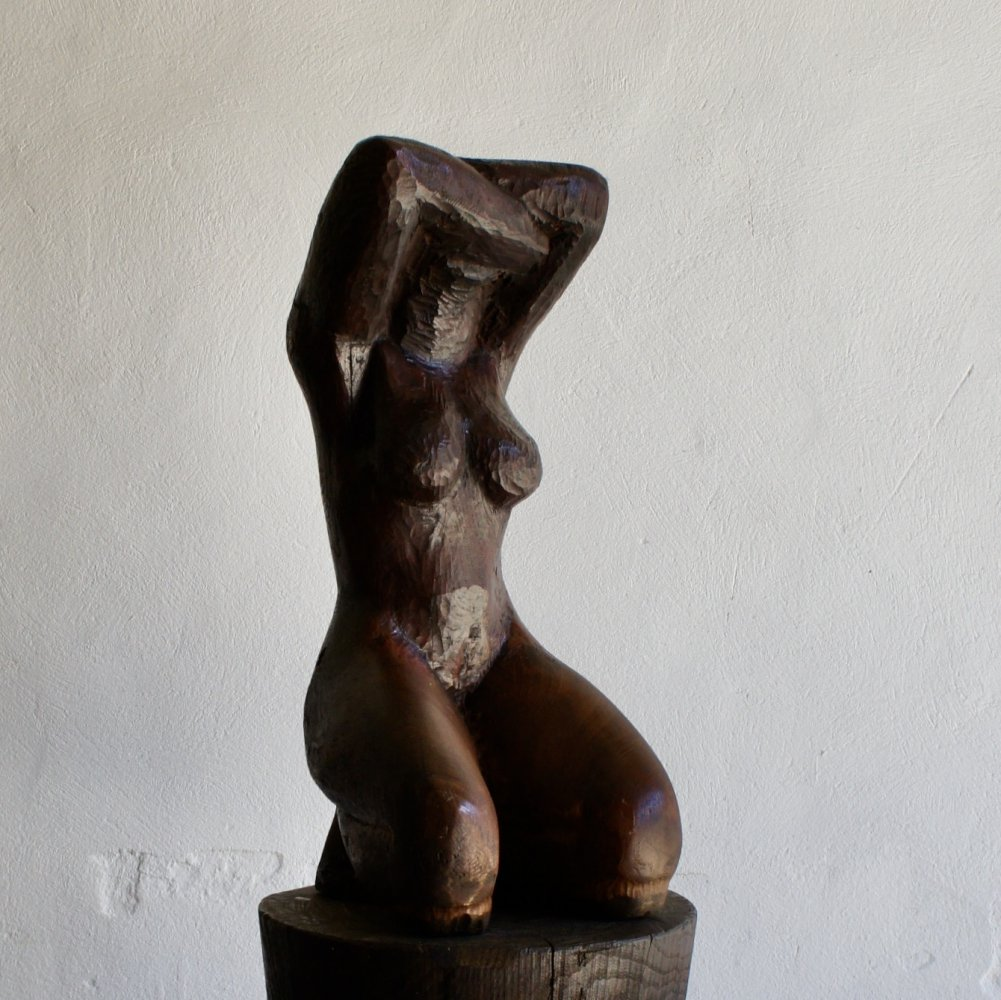 Hardwood Female Sculpture, 1960s