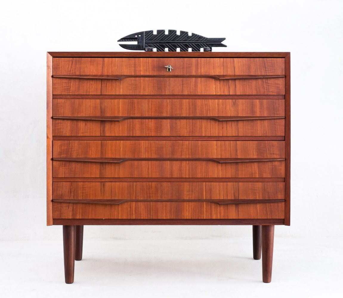 Mid Century Danish teak chest of drawers, 1960s