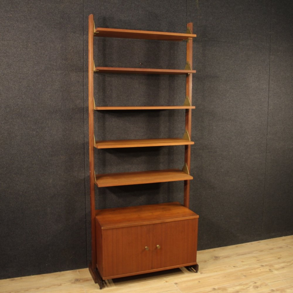 20th Century Exotic Wood Scandinavian Design Bookcase, 1970
