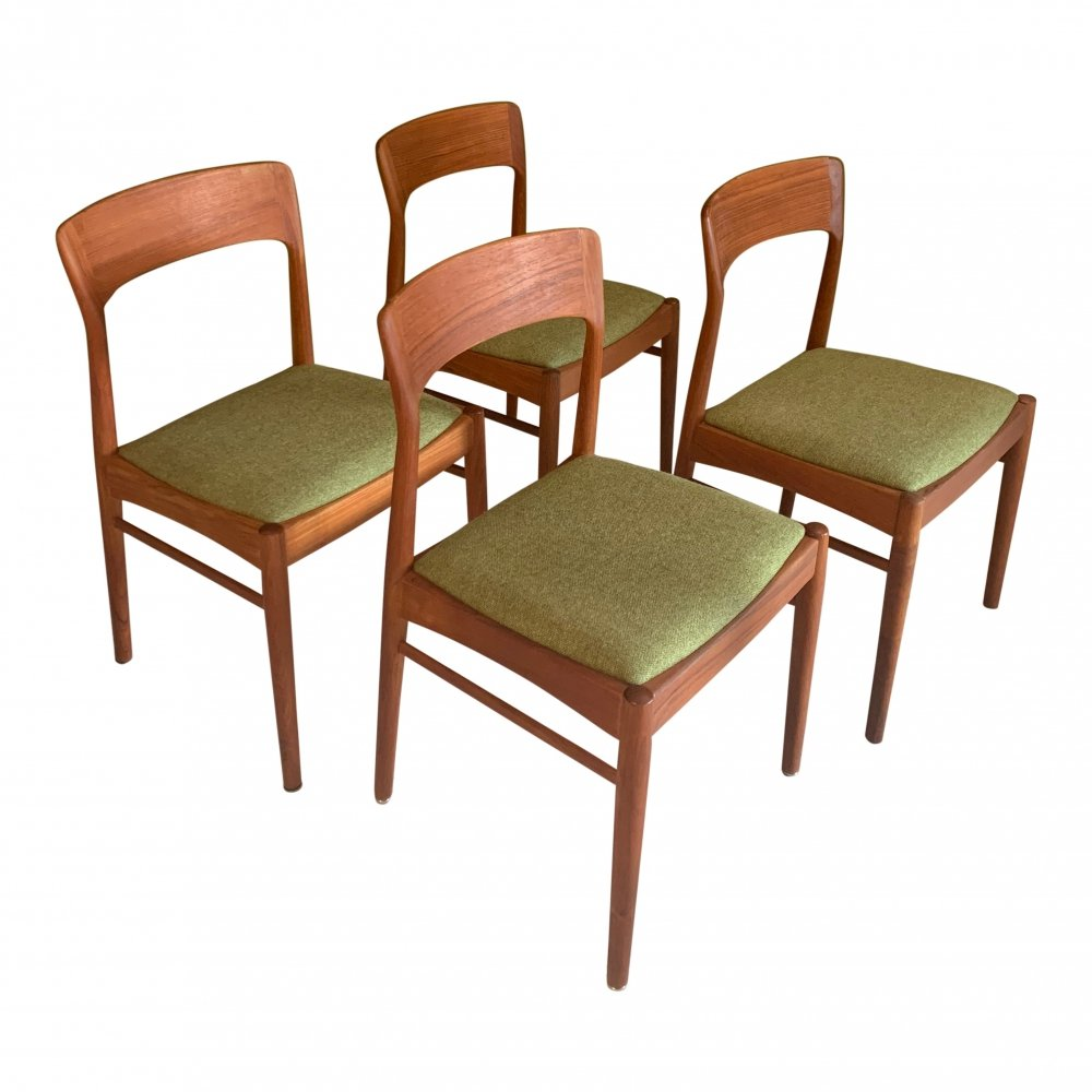 Set of 4 dining chairs by Kai Kristiansen for Korup Stolefabrik
