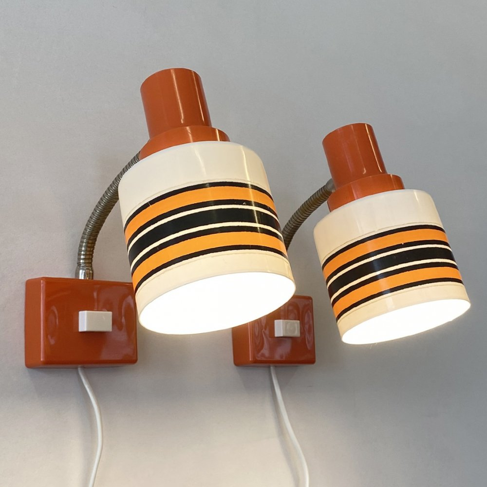 Set of 2 wall lamps, 1970s