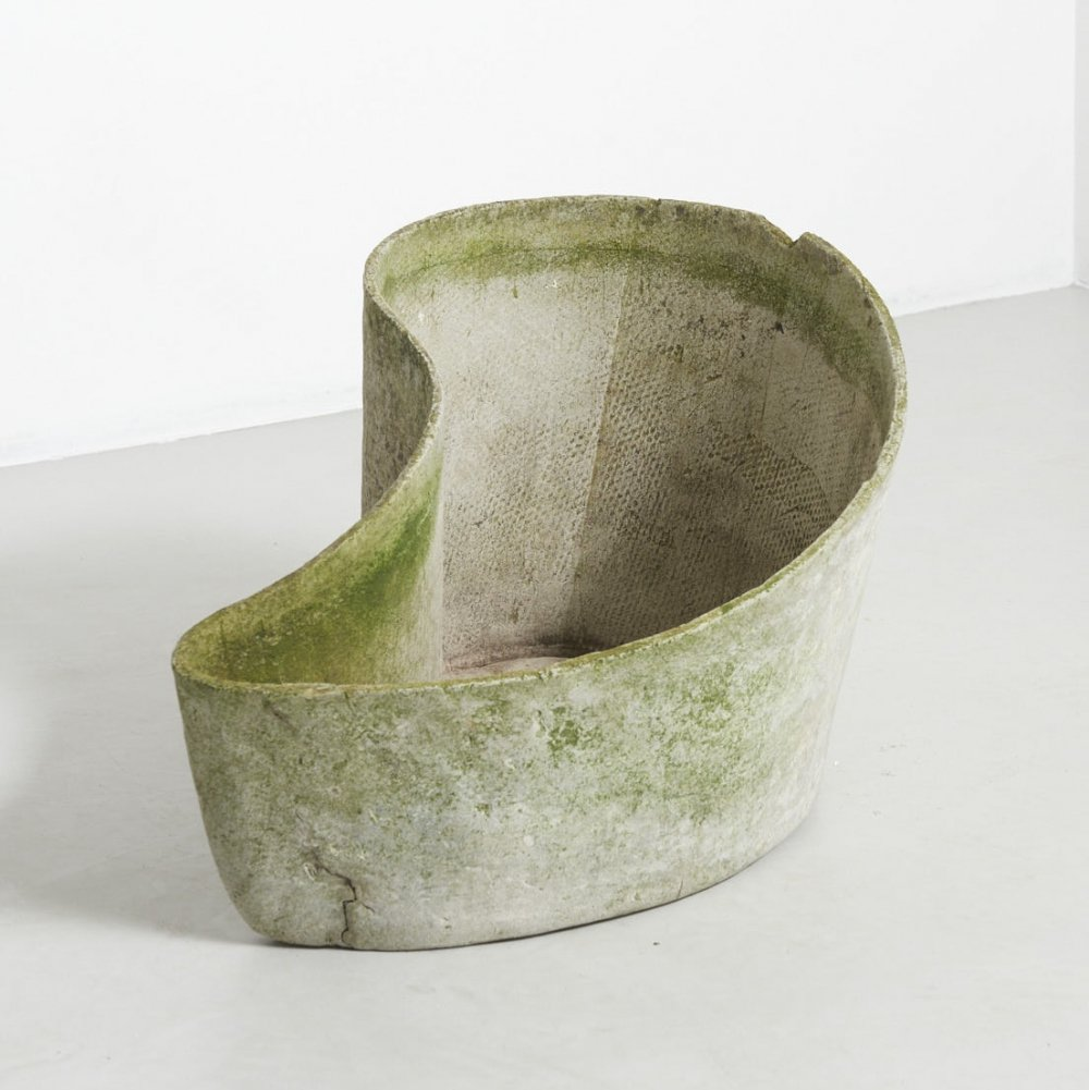 Curved Planter by Willy Guhl for Eternit SA, Switzerland 1951