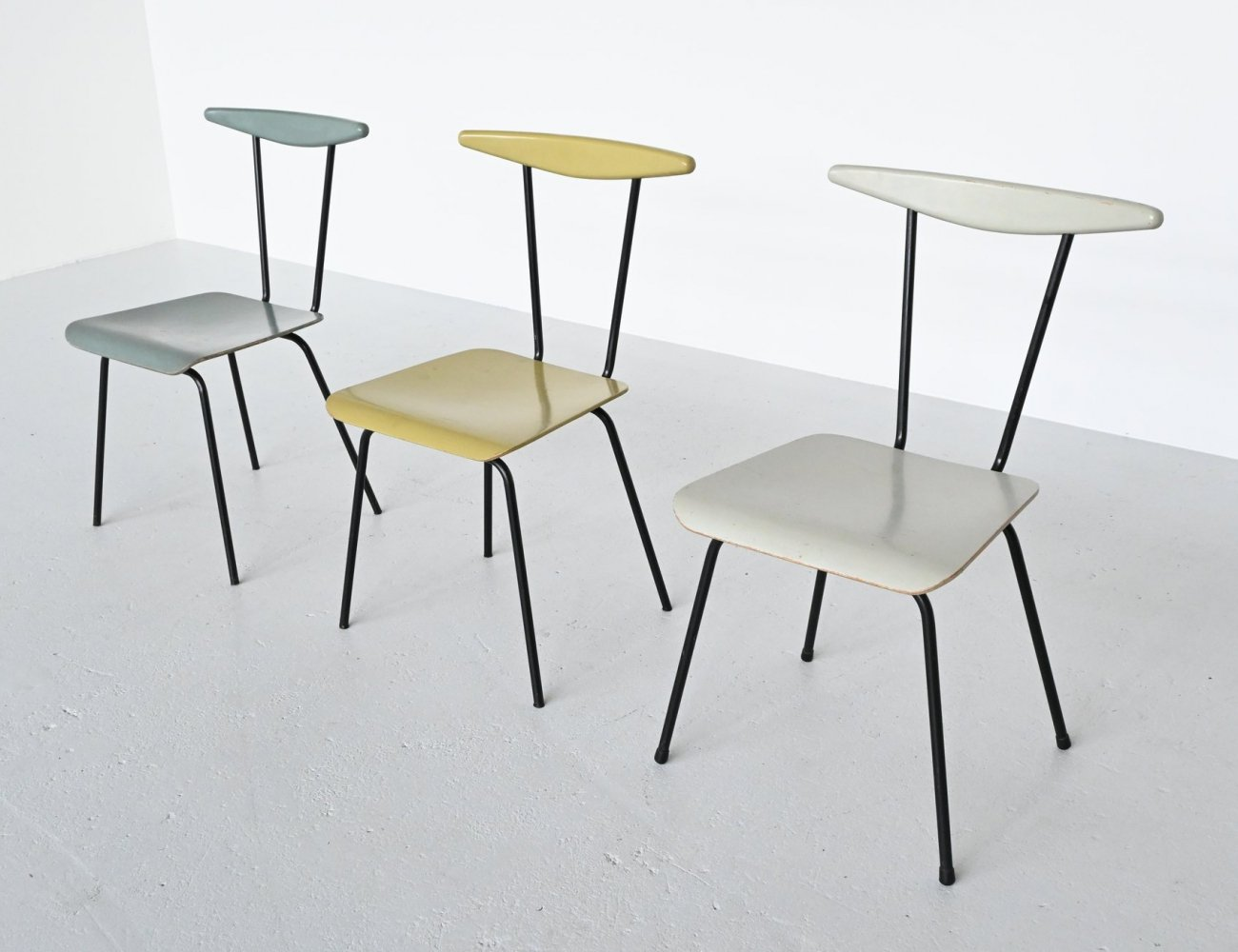 Wim Rietveld Dressboy chairs by Auping, Netherlands 1960