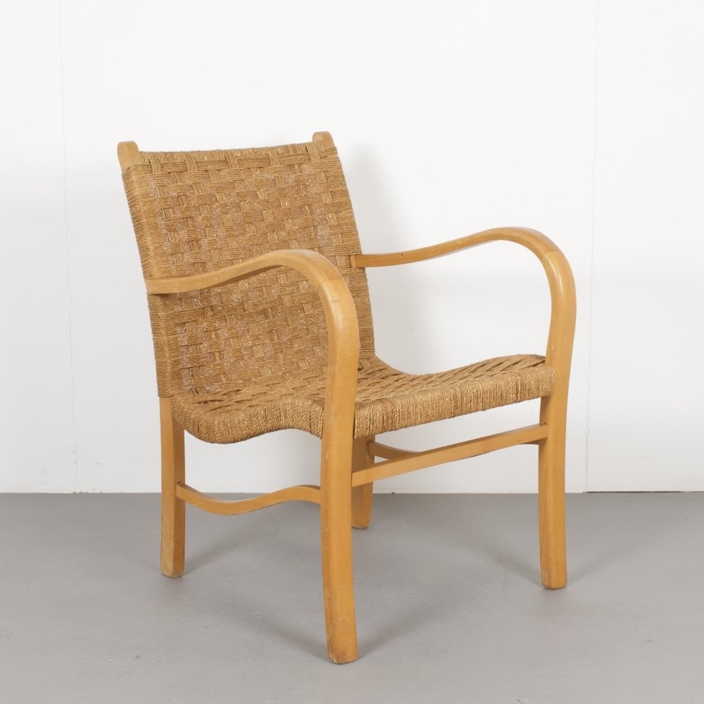 Beech Frame Rope Chair, 1960s