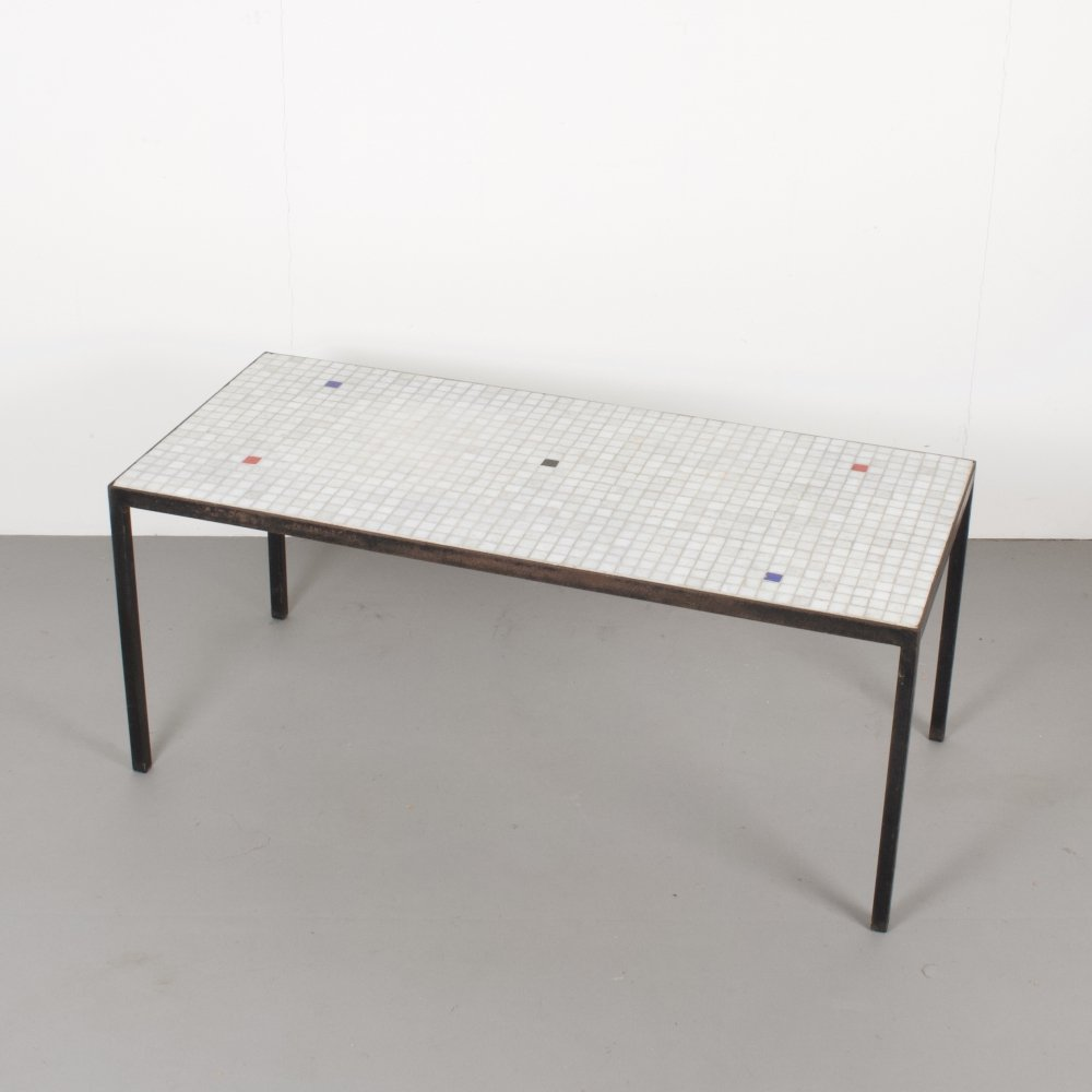 Vintage mosaic tiled coffee table, 1960s