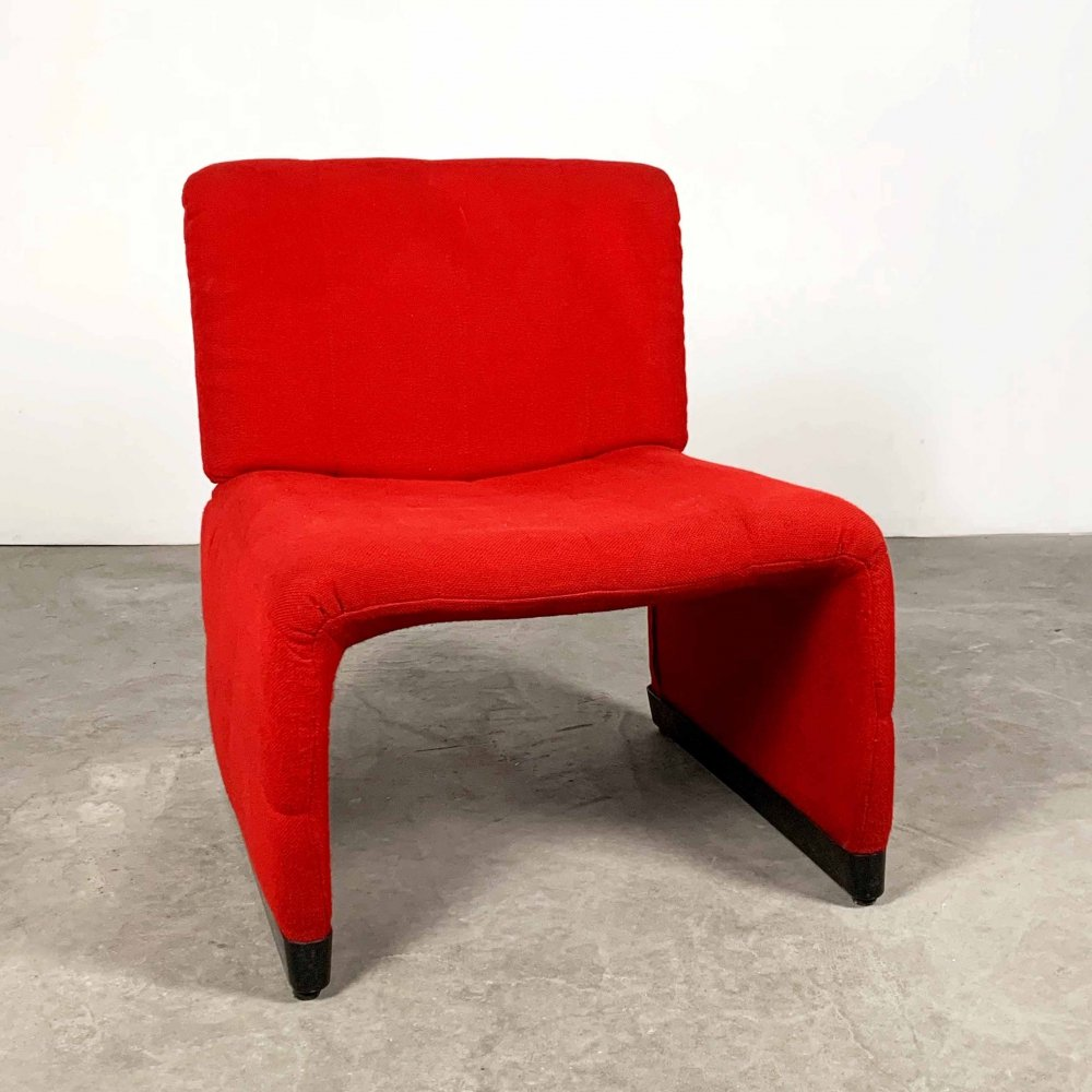 Red lounge chair, 1970s